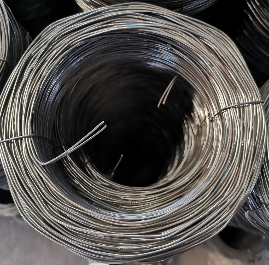 black twisted iron wire