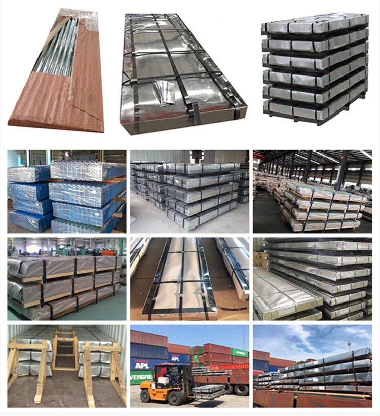 Galvanized corrugated iron sheet packing